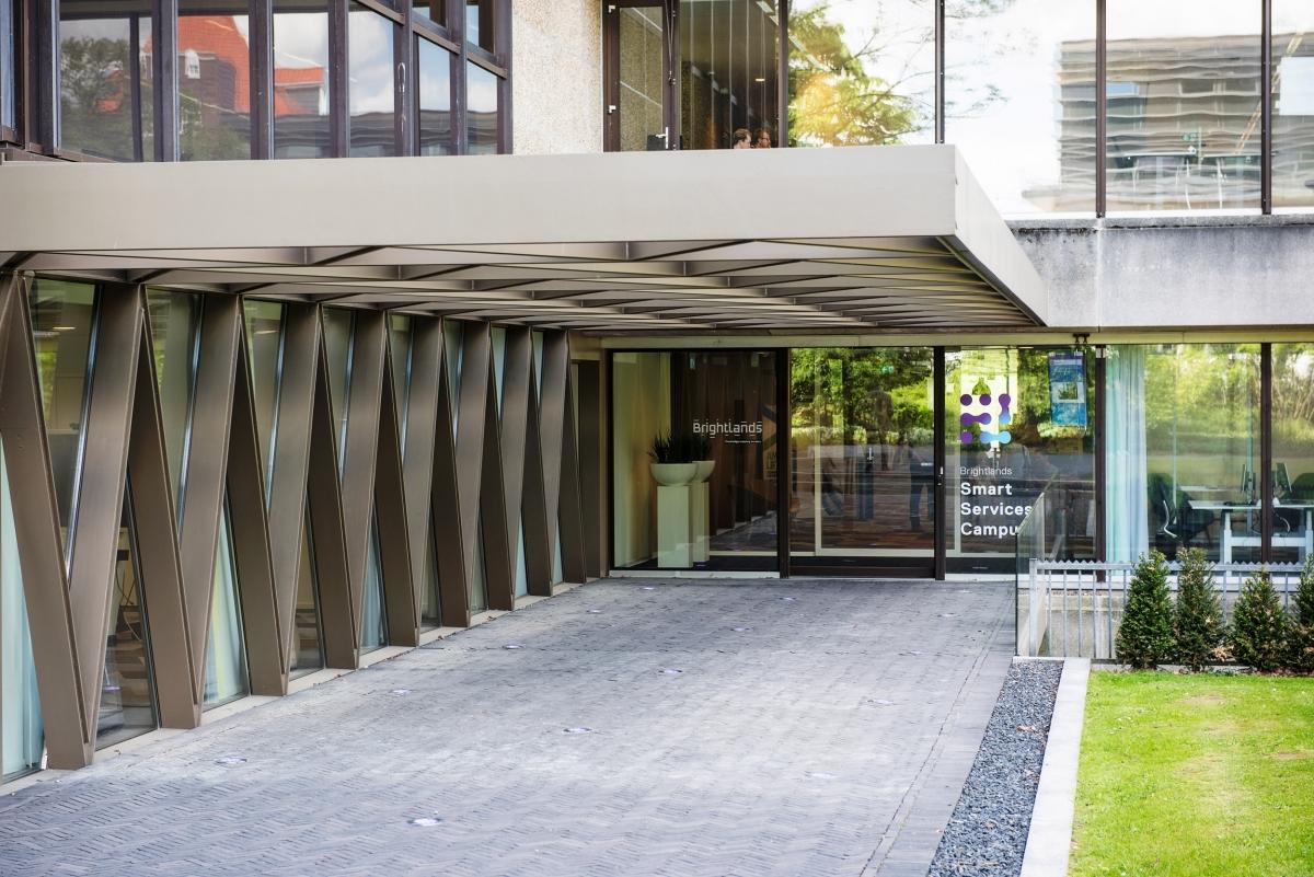 Entree van de Brightlands Smart Services Campus te Heerlen