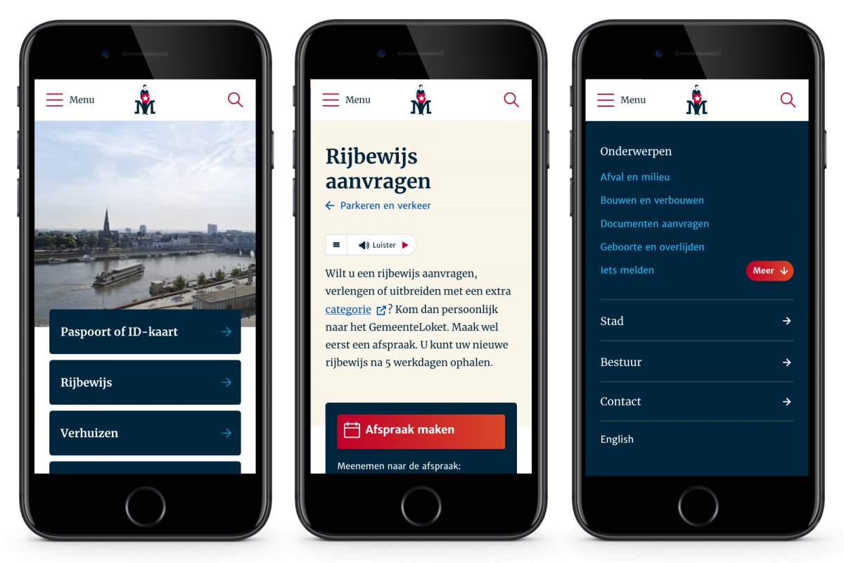 gemeente Maastricht mobile first